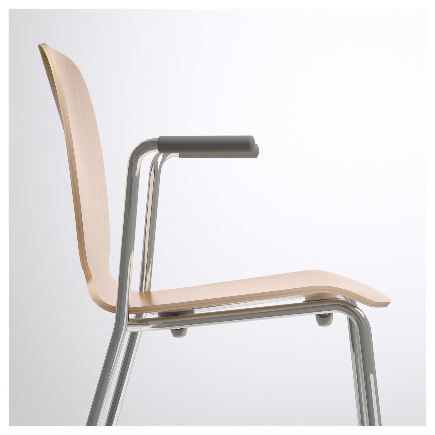 IKEA SVENBERTIL chair with armrests The self-adjusting plastic feet adds stability to the chair.