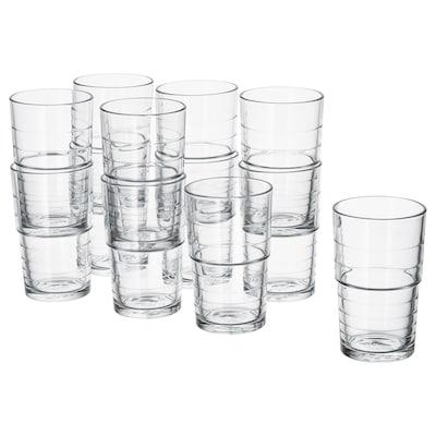SVEPA glass clear glass 13 cm 31 cl 12 pack