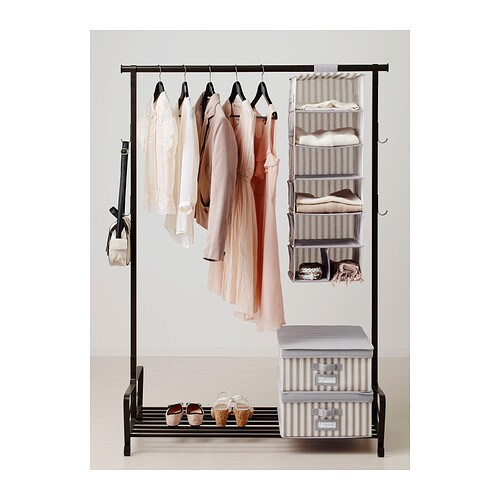 svira hanging storage with 7 compartments grey white. Black Bedroom Furniture Sets. Home Design Ideas