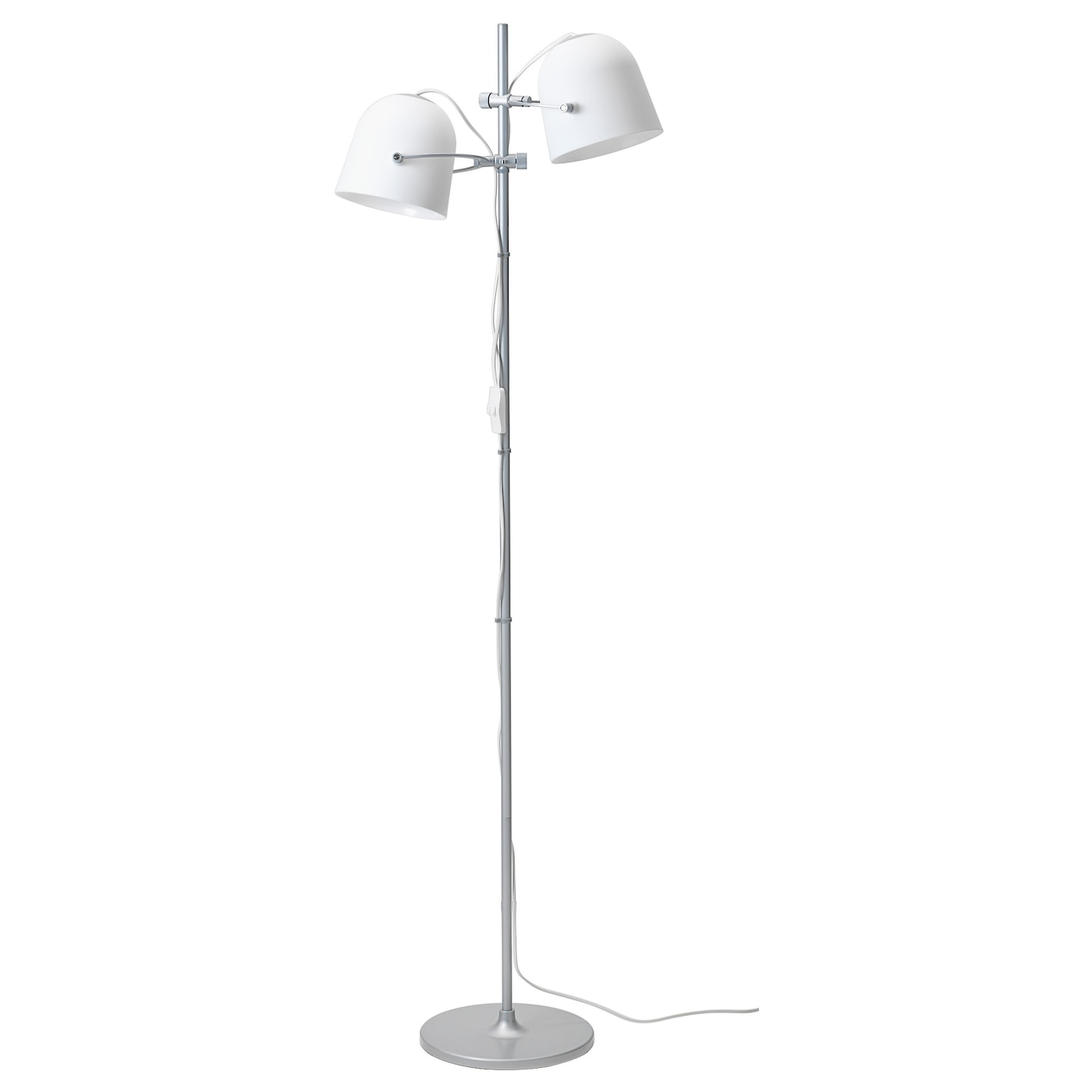 Svirvel floor lamp with 2 shades white ikea ikea svirvel floor lamp with 2 shades aloadofball Gallery
