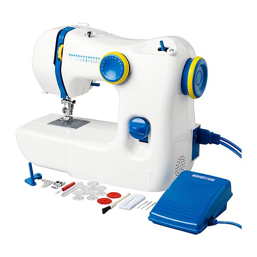 SY Sewing-machine IKEA Easy to use; demonstrative instructions included; perfect for beginners.
