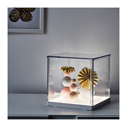 IKEA SYNAS LED lighting box The illuminated base creates a warm and cosy atmosphere in the room.