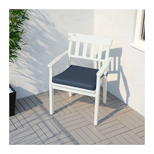 IKEA TÅSINGE chair cushion, outdoor Ties keep the cushion firmly in place on the chair.