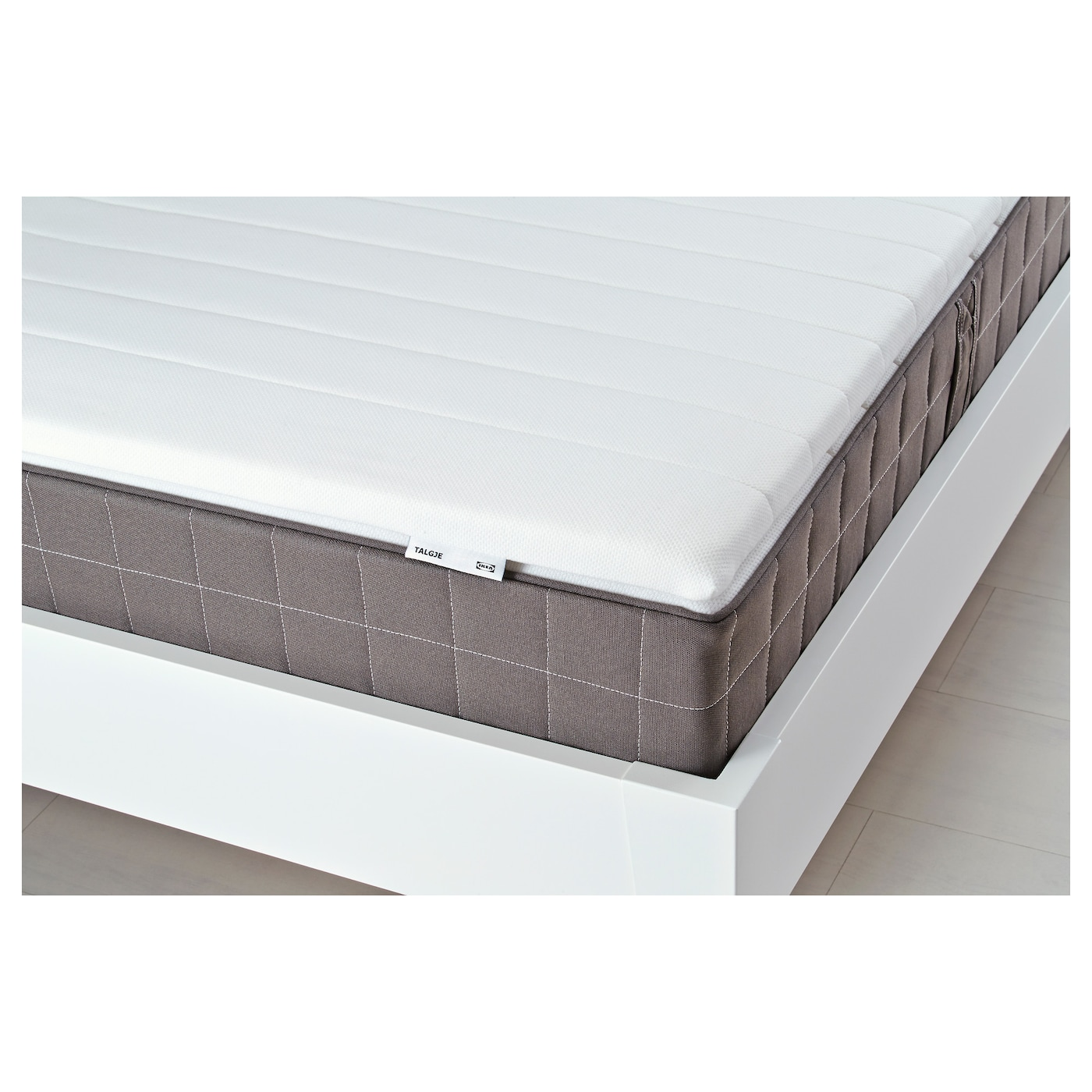IKEA TALGJE mattress topper Foam filling provides a soft sleep surface.