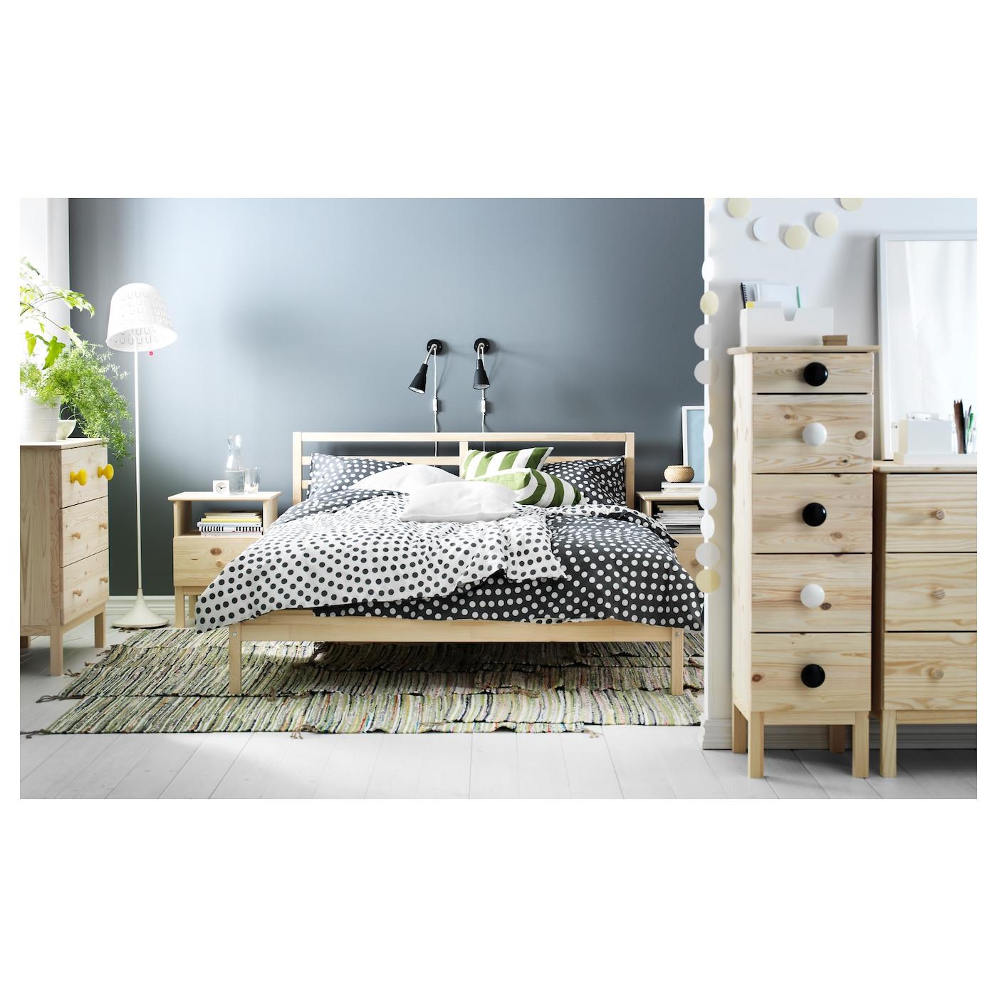 TARVA Bed frame Pine luröy Standard Double IKEA