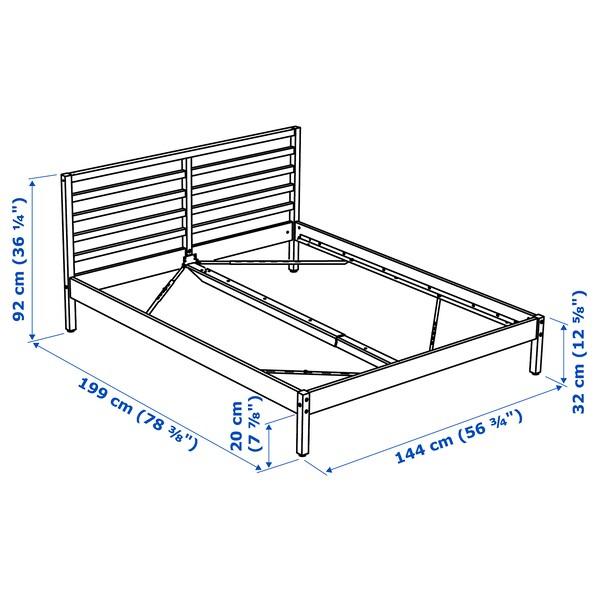 TARVA Bed frame, pine/Luröy, Standard Double