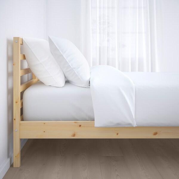 TARVA Bed frame, pine/Luröy, Standard King