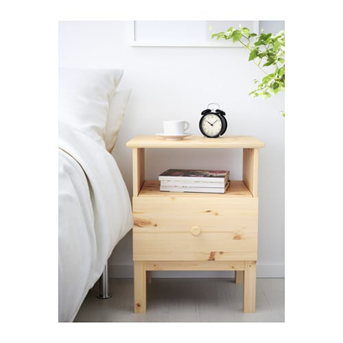 Tarva bedside table pine 48x62 cm ikea - Table de chevet bois brut ...