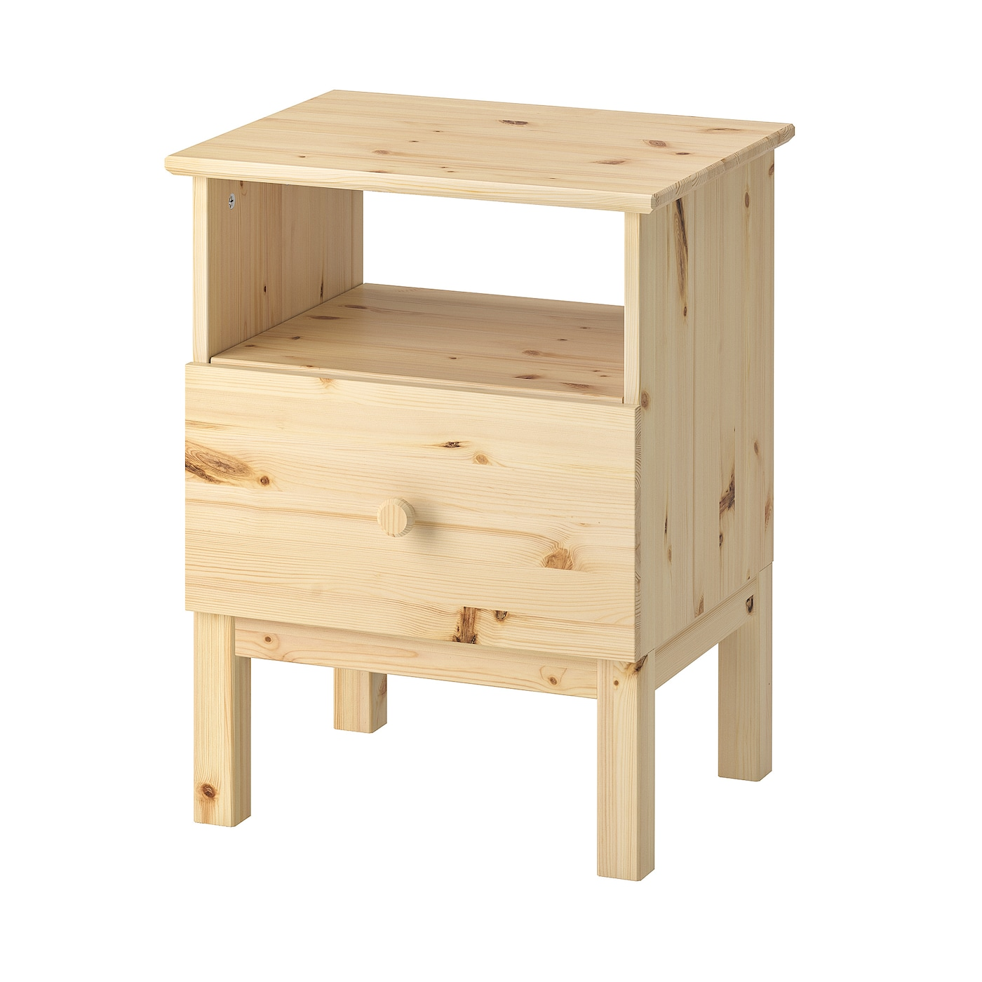 Ikea Tarva Bedside Table Made Of Solid Wood Which Is A Hardwearing And Warm Natural