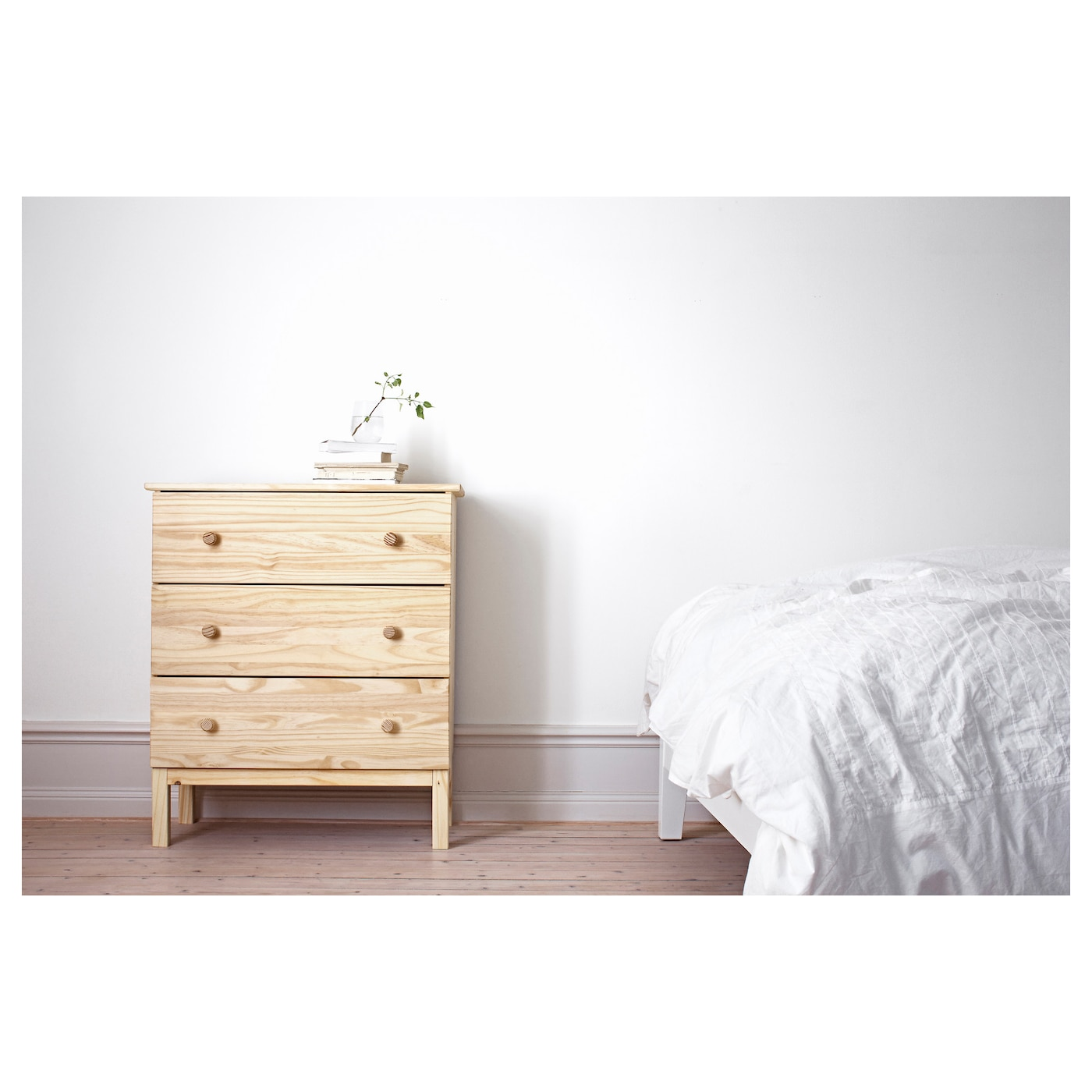 Ikea Tarva Chest Of 3 Drawers Made Solid Wood Which Is A Hardwearing And