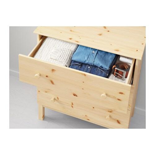Tarva Chest Of 3 Drawers Pine 79x92 Cm Ikea