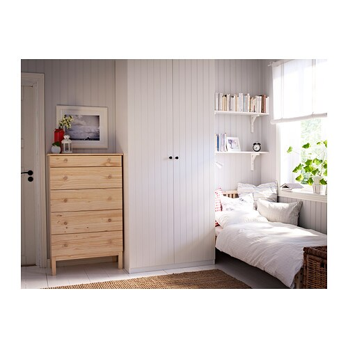 tarva chest of 5 drawers pine 79x127 cm ikea. Black Bedroom Furniture Sets. Home Design Ideas