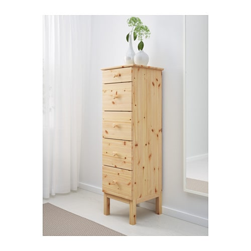 Tarva chest of 5 drawers pine 39x127 cm ikea for Pine desk ikea
