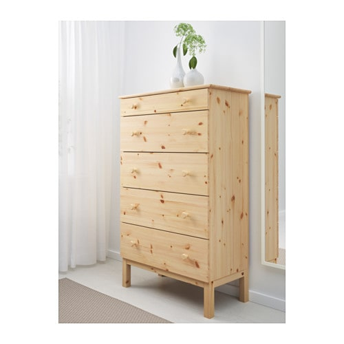 Ikea Tarva Chest Of 5 Drawers Made Solid Wood Which Is A Hardwearing And