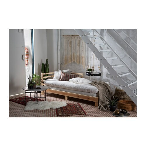 Tarva day bed frame pine 80x200 cm ikea for Divan daybed
