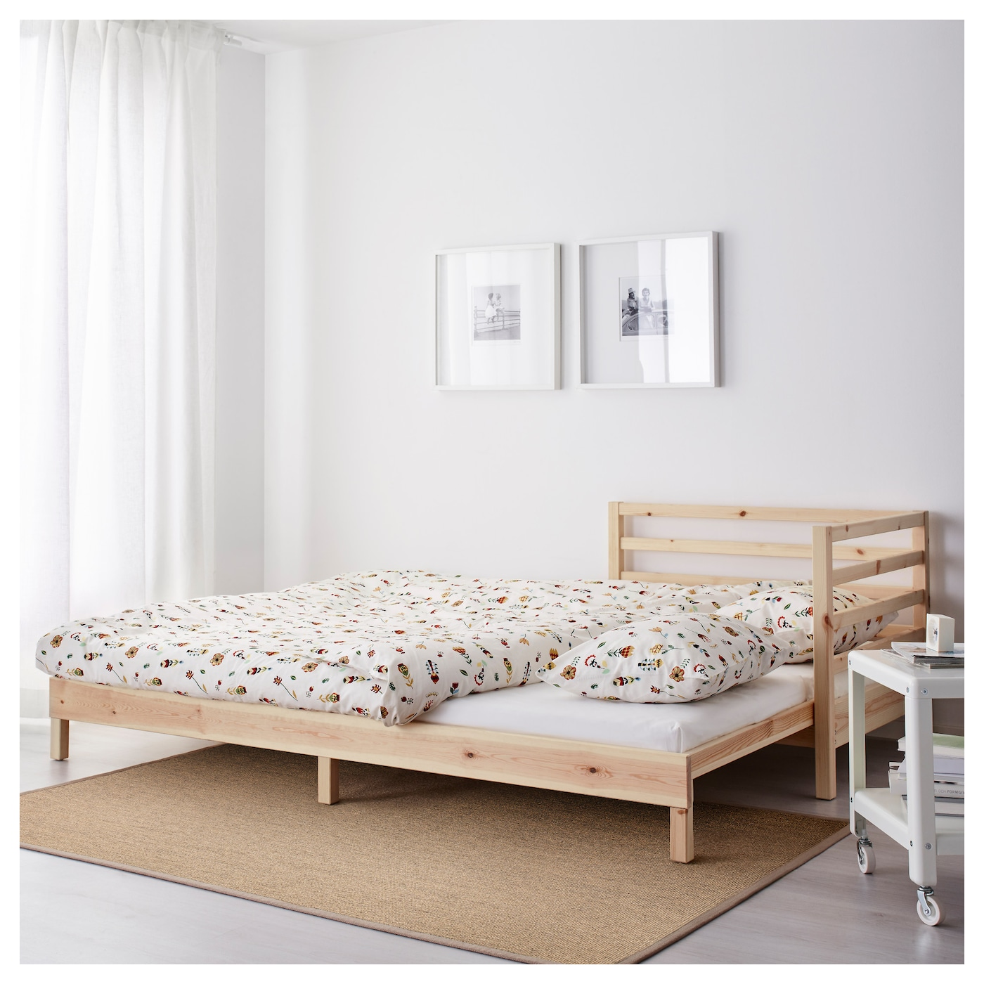Tarva day bed with 2 mattresses pine moshult firm 80x200 for Ikea day bed