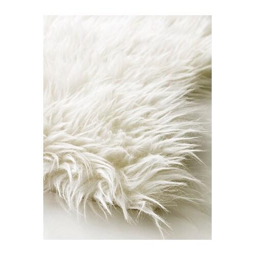 Tejn rug white ikea - Tapis fausse fourrure pas cher ...