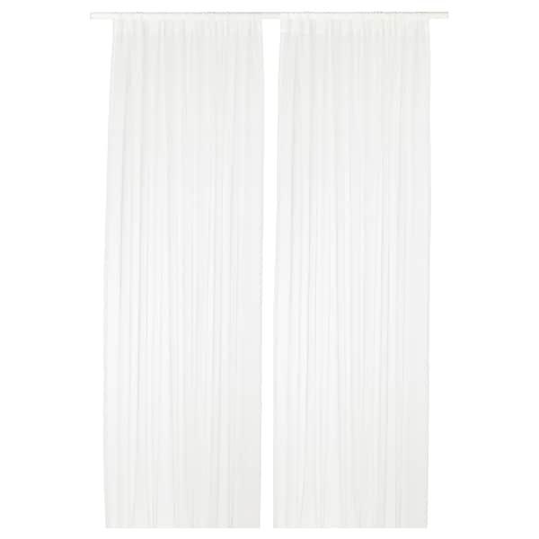 TERESIA Sheer curtains, 1 pair, white, 145x250 cm