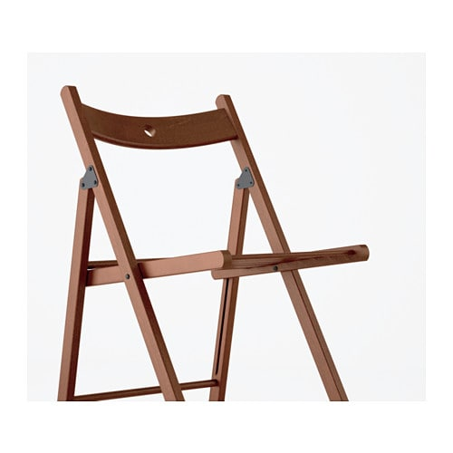 TERJE Folding chair Brown IKEA