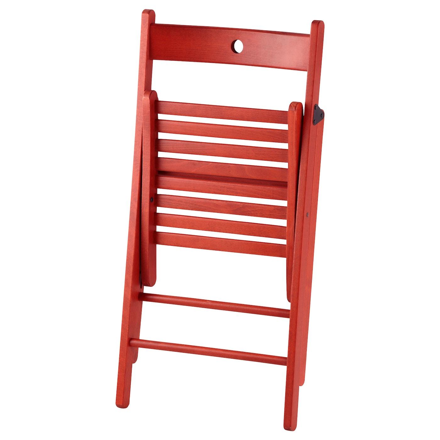Terje Folding Chair Red Ikea
