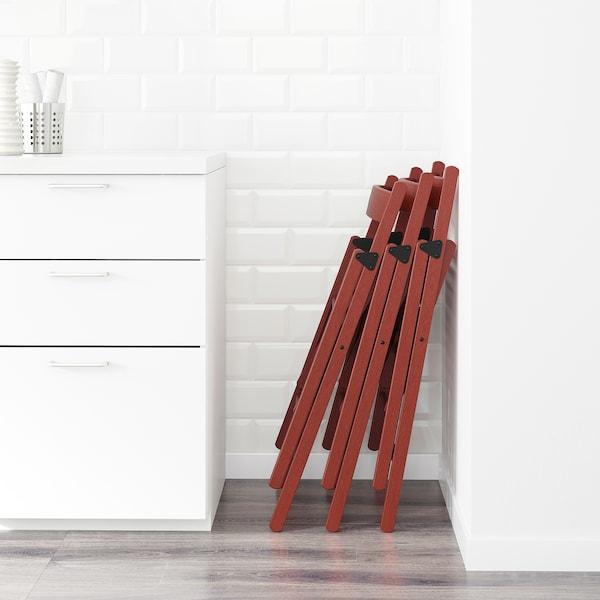 TERJE folding chair red 100 kg 44 cm 51 cm 77 cm 38 cm 33 cm 46 cm