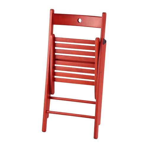 4 x IKEA TERJE Folding Chair Red Brand New NEXT DAY DELIVERY