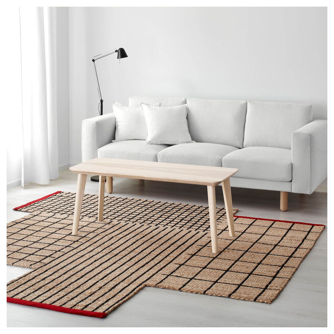 IKEA TERNSLEV rug, flatwoven Easy to vacuum thanks to its flat surface.