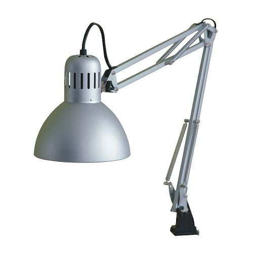 TERTIAL Work lamp IKEA Adjustable arm and head for easy directing of light.