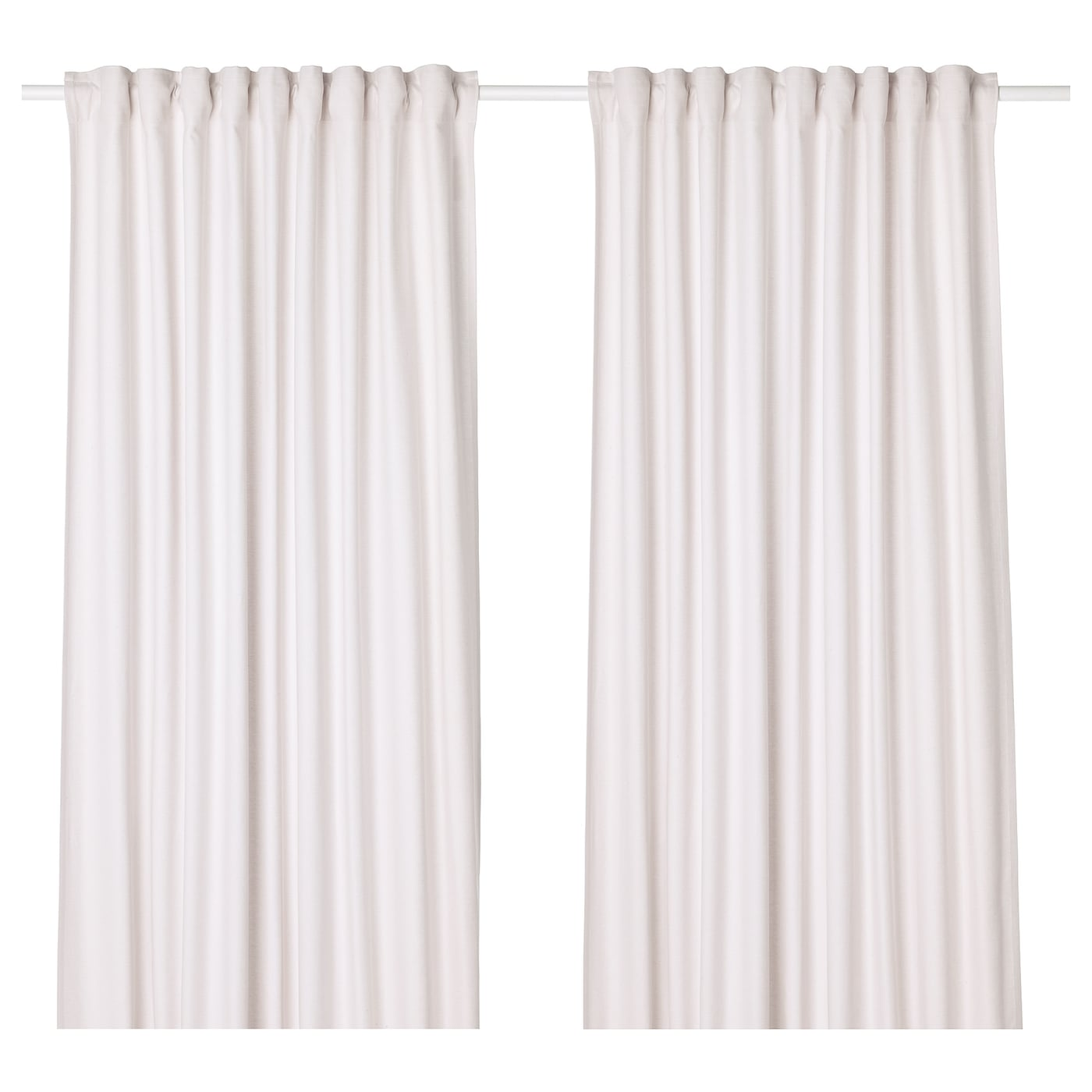 IKEA TIBAST curtains, 1 pair The curtains can be used on a curtain rod or a curtain track.