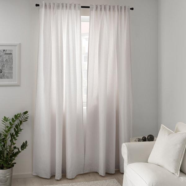 TIBAST Curtains, 1 pair, beige, 145x250 cm