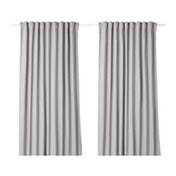 IKEA TIBAST Curtains 1 Pair The Can Be Used On A Curtain Rod Or