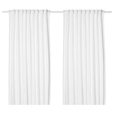 TIBAST Curtains, 1 pair, white, 145x250 cm