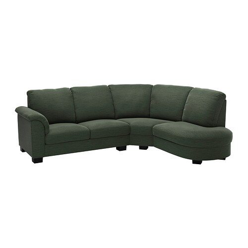 TIDAFORS Corner sofa with arm left IKEA The high back gives good support for your neck and head.