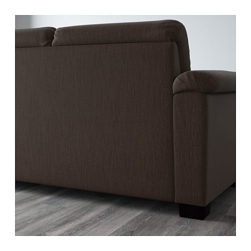 IKEA TIDAFORS corner sofa with arm left The high back gives good support for your neck and head.