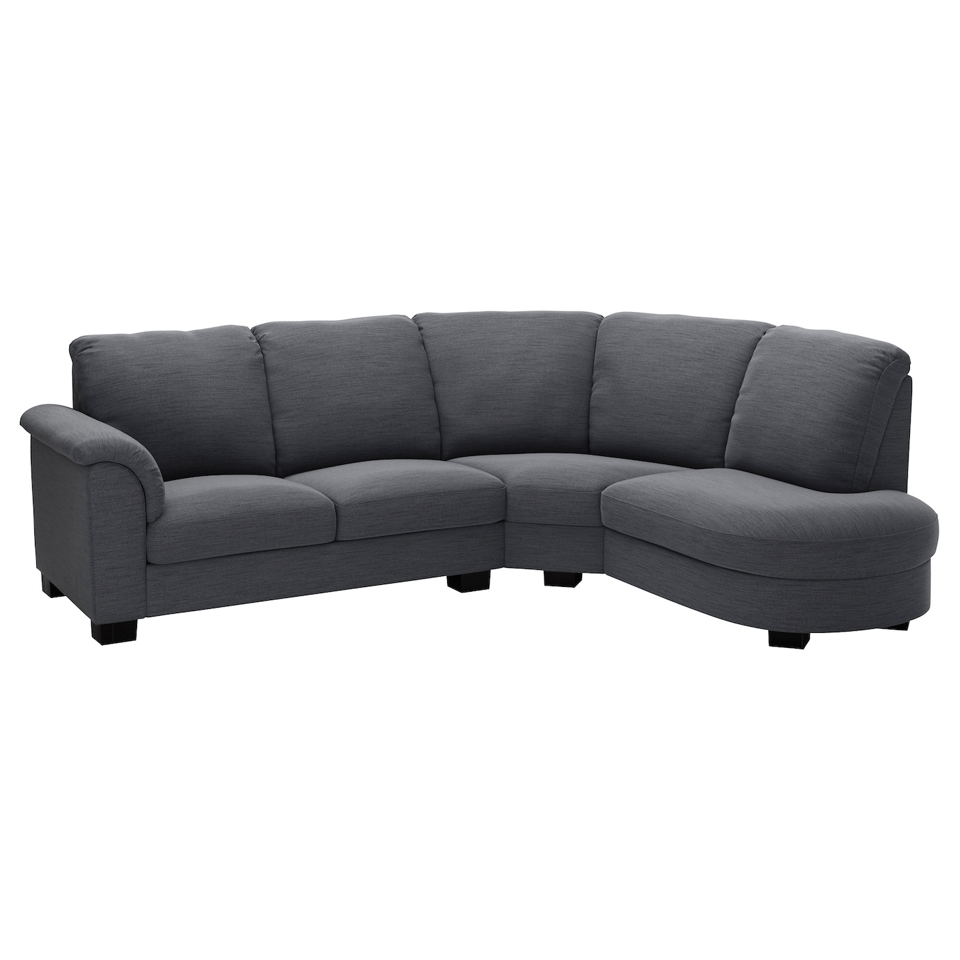 Tidafors corner sofa with arm left hensta grey ikea for Ikea gray sofa