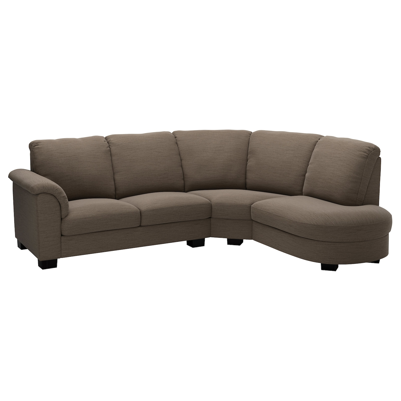 Tidafors corner sofa with arm left hensta light brown ikea for Corner loveseats