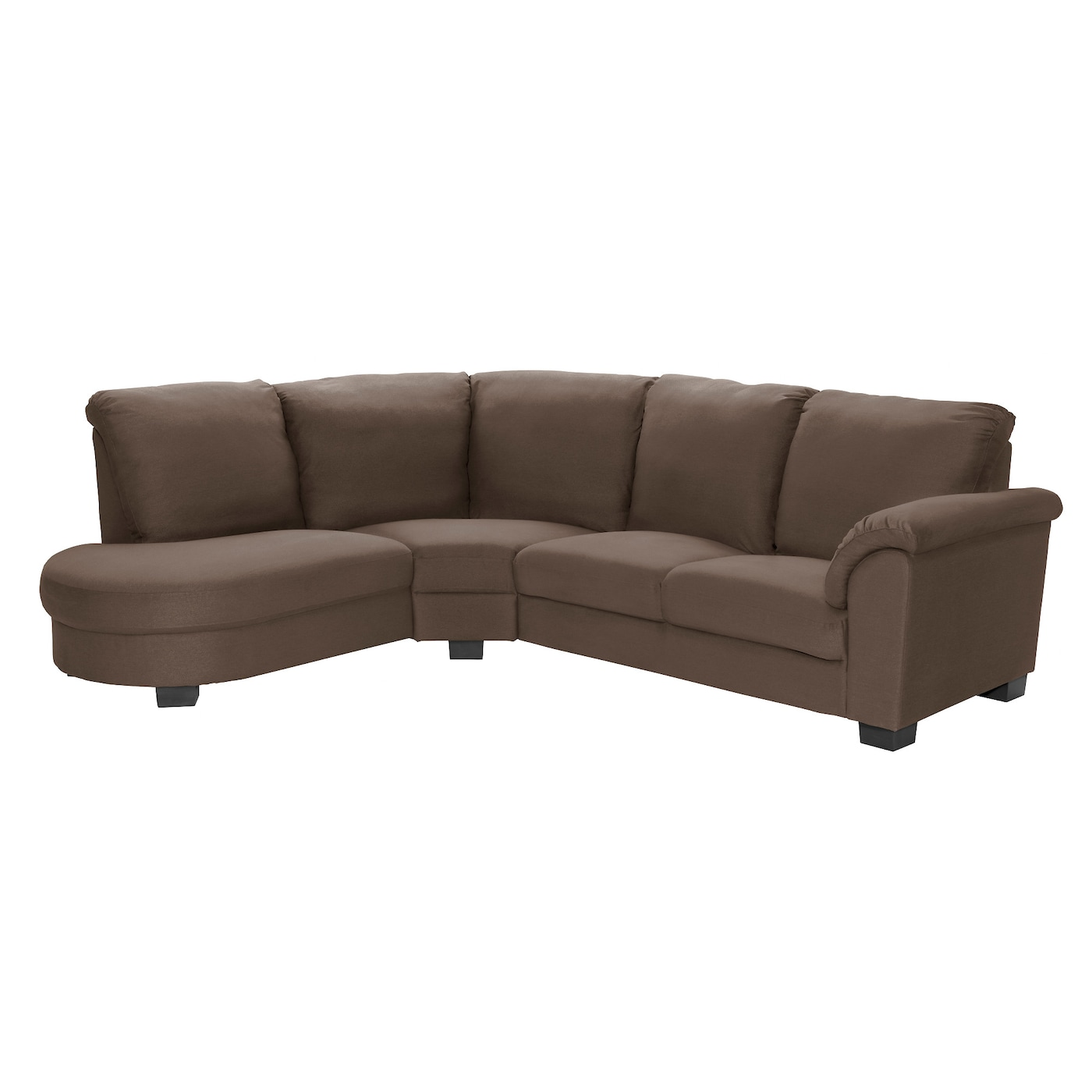 Tidafors corner sofa with arm right dansbo medium brown ikea - Sofas en esquina ...