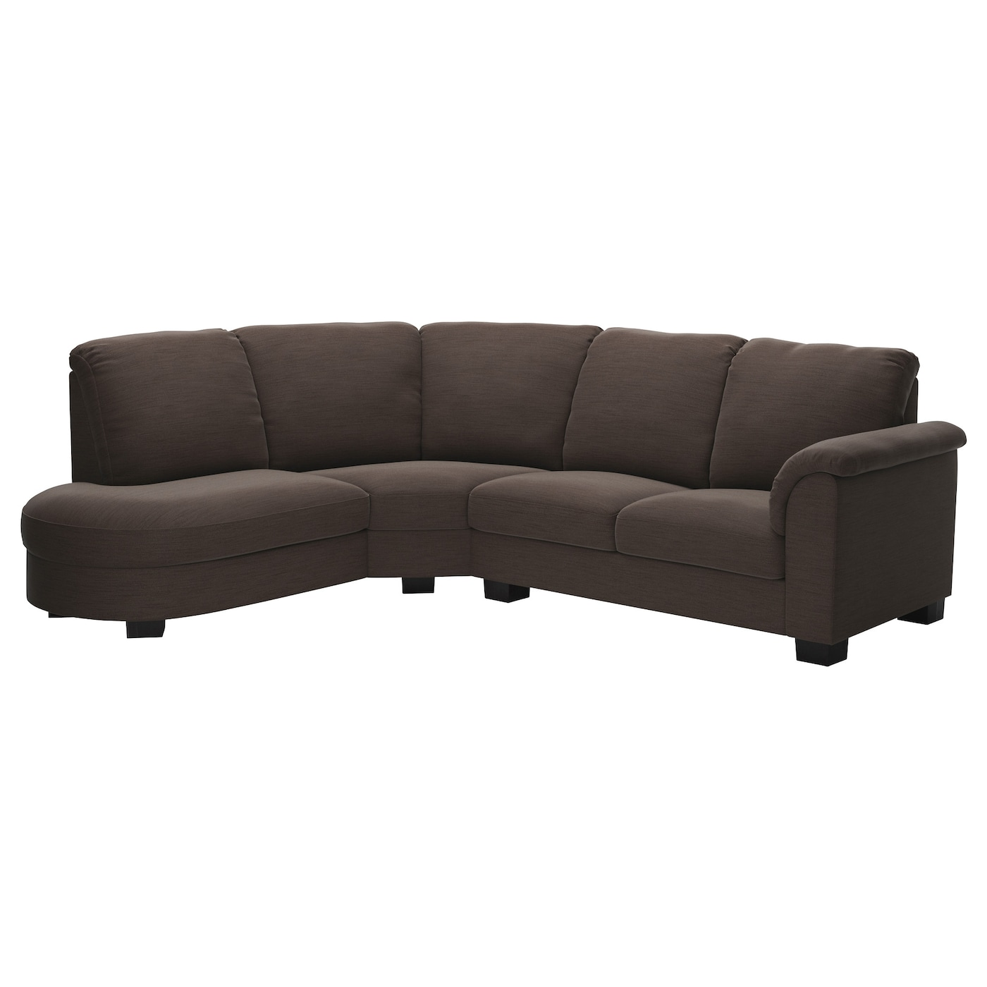 TIDAFORS Corner sofa with arm right Hensta dark brown IKEA