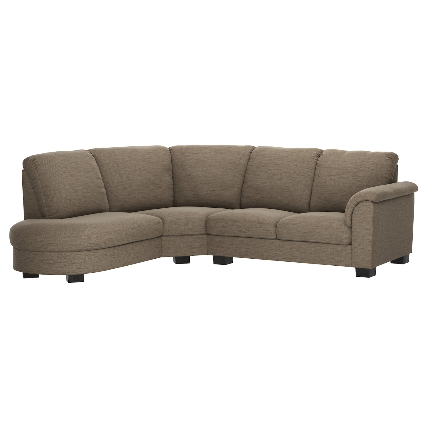 Tidafors corner sofa with arm right hensta light brown ikea for Ikea corner sofa