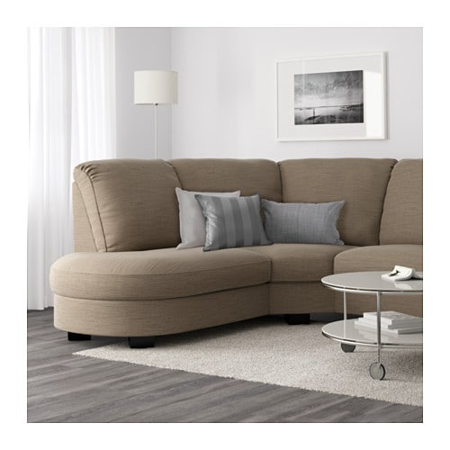 TIDAFORS Corner Sofa With Arm Right Hensta Light Brown