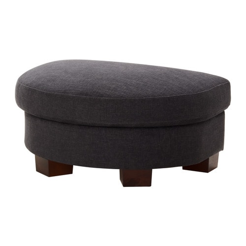 TIDAFORS Footstool IKEA Heavy, structured cotton cover, yarn-dyed with two tone effect.