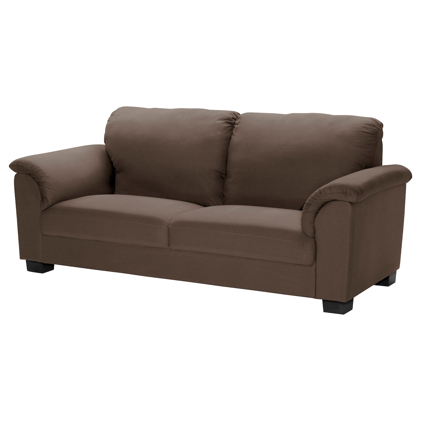 Tidafors three seat sofa dansbo medium brown ikea for Sofa cama modernos