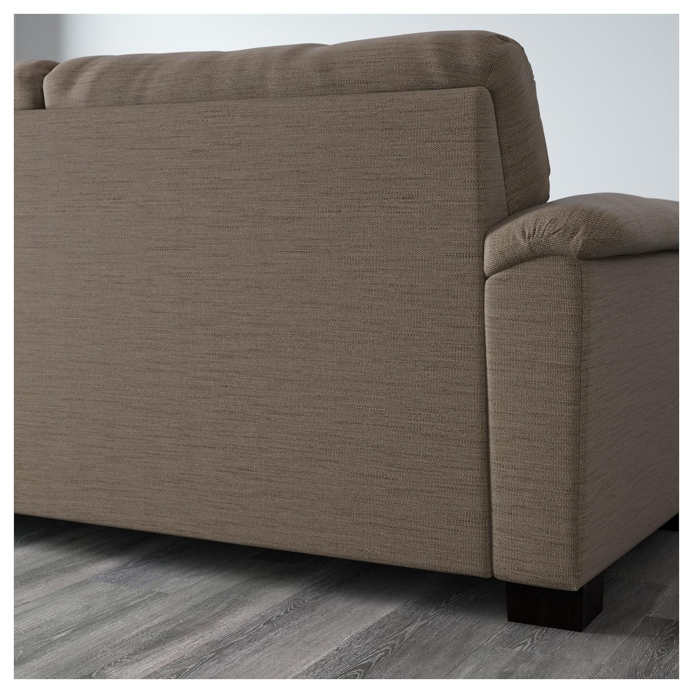 Tidafors Three Seat Sofa Hensta Light Brown Ikea