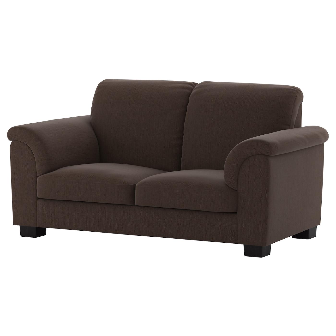 Tidafors two seat sofa hensta dark brown ikea for Divanetti ikea