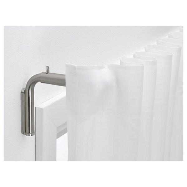 TIDPUNKT Curtain rod set, nickel-plated, 120-210 cm