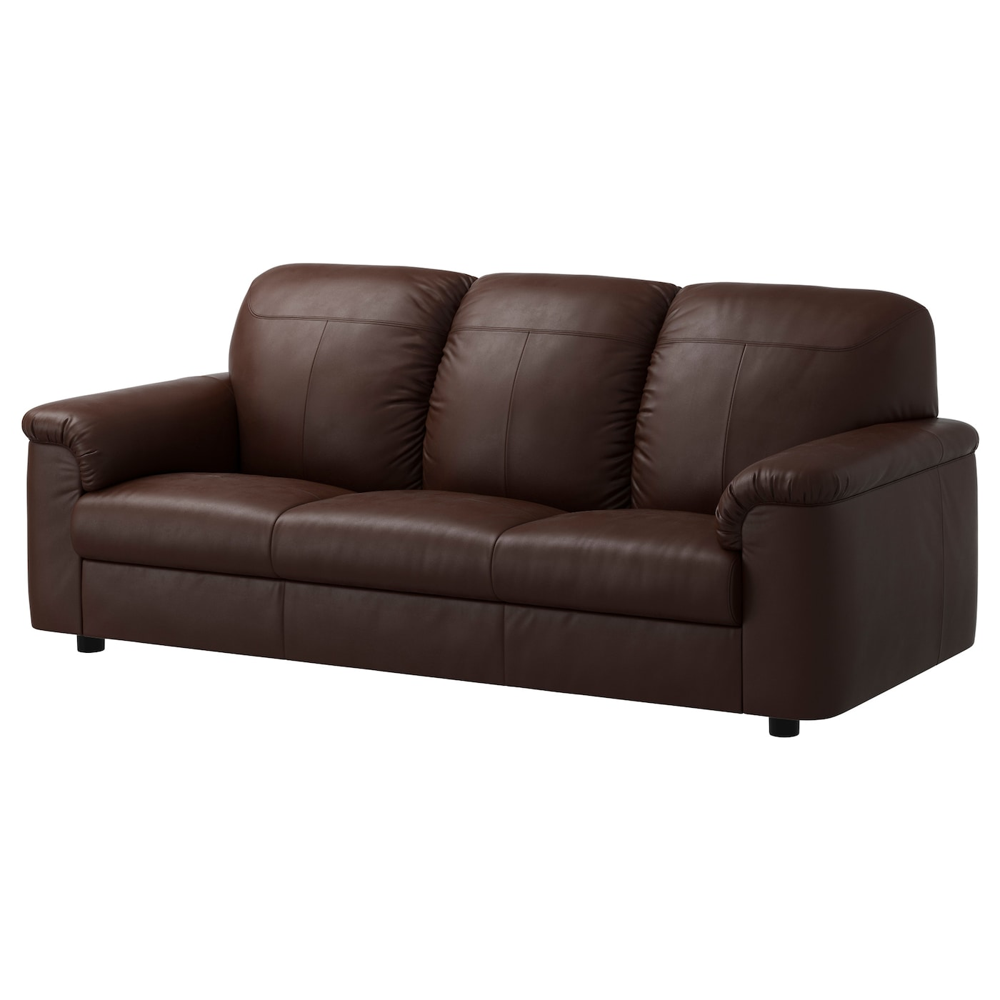 IKEA TIMSFORS three-seat sofa The armrests with extra padding are comfortable to lean against.