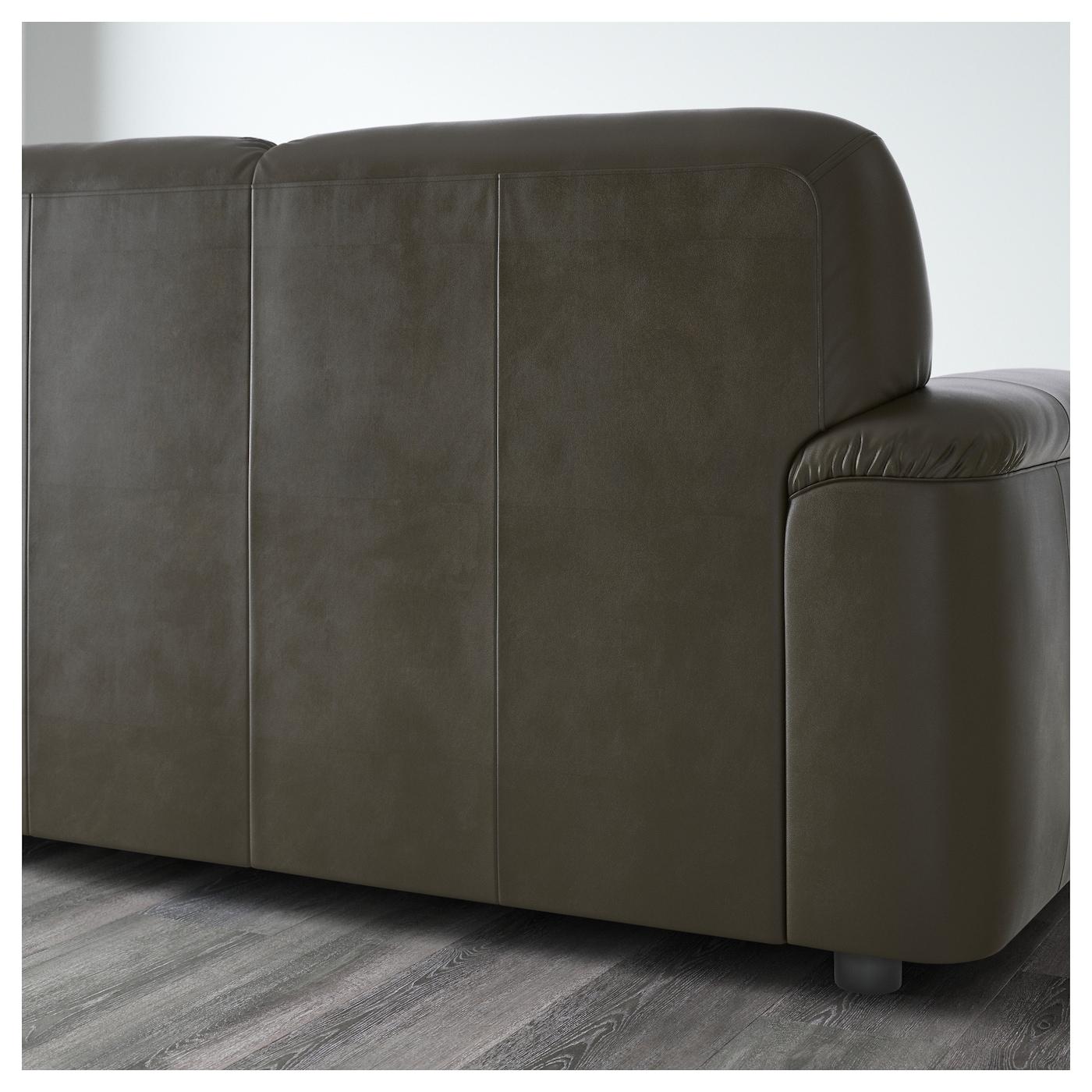 Timsfors three seat sofa mjuk kimstad dark green ikea for Couch gb sofa