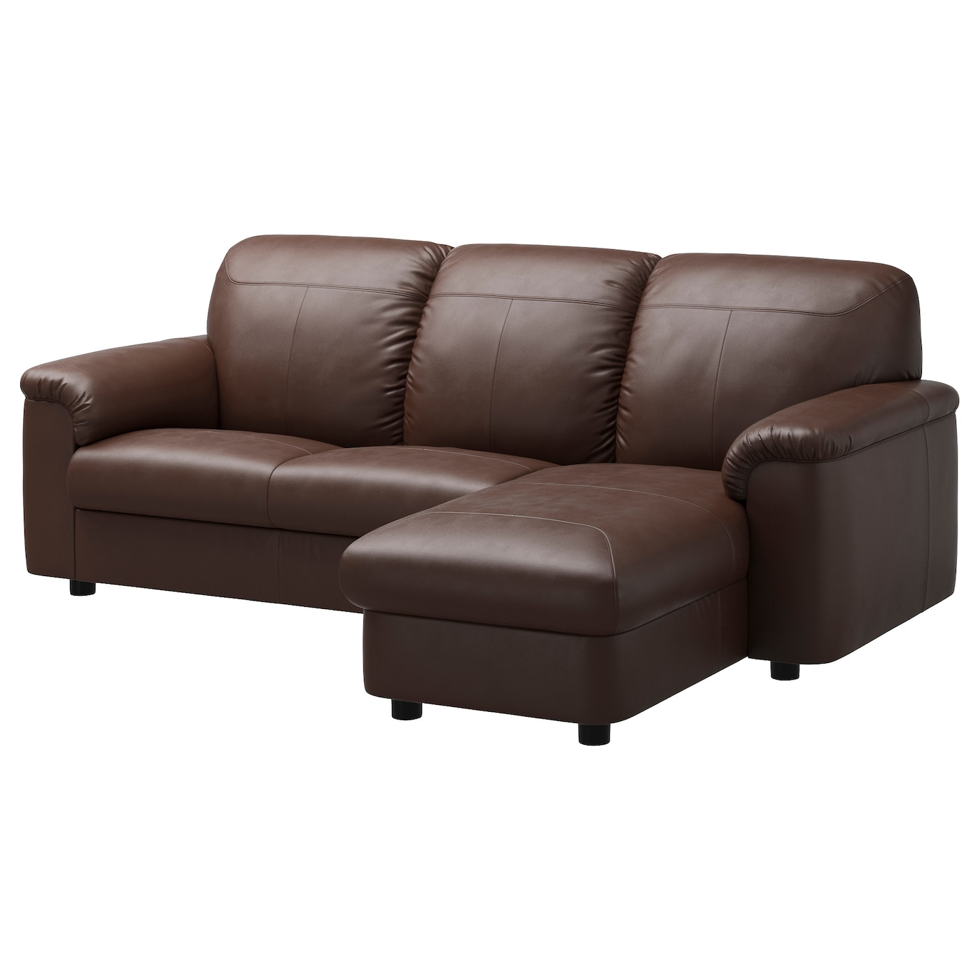 TIMSFORS Twoseat sofa with chaise longue Mjukkimstad dark brown