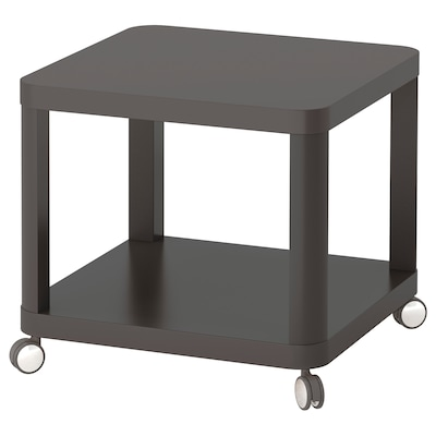 TINGBY Side table on castors, grey, 50x50 cm