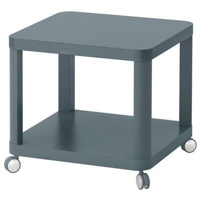 TINGBY side table on castors turquoise 50 cm 50 cm 45 cm